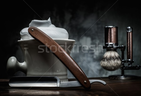Tál hab fából készült arc férfi haj Stock fotó © Nejron