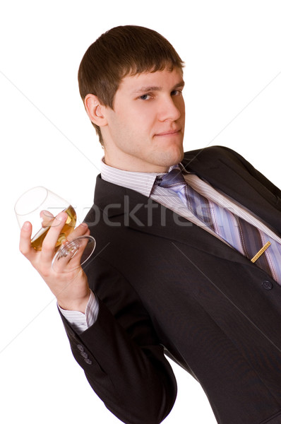 Business man with a cognac glass Stock photo © Nejron