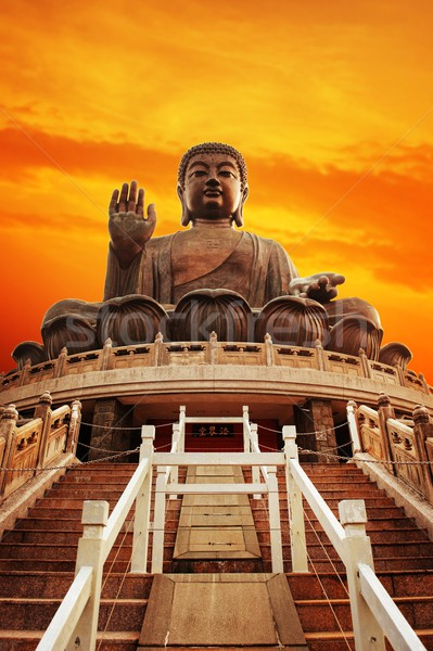 Tian Tan Buddha (Hong Kong, Lantau Island)   Stock photo © Nejron