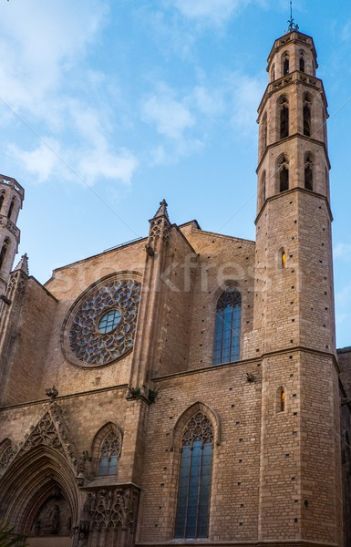 Stock photo: Santa Maria del Mar cathedral, Barcelona
