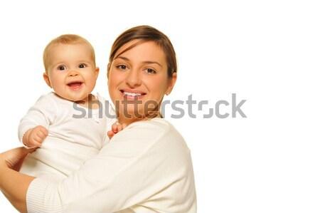 Madre adorabile baby donna famiglia felice Foto d'archivio © Nejron