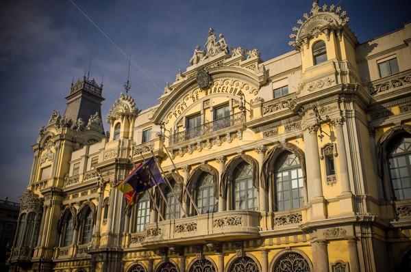 La edifício Barcelona cidade rua mar Foto stock © Nejron