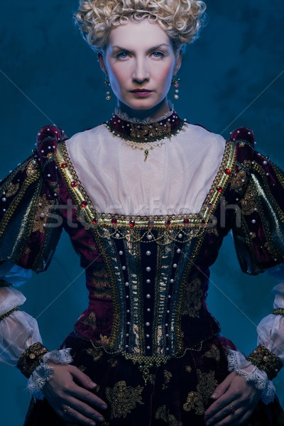 Haughty queen in royal dress Stock photo © Nejron
