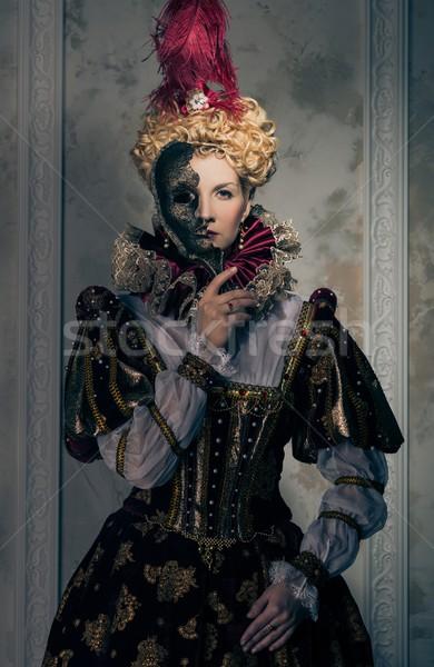 Rainha real vestir máscara poder roupa Foto stock © Nejron