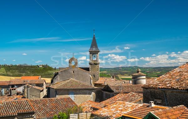 表示 村 屋根 フランス 風景 夏 ストックフォト © Nejron