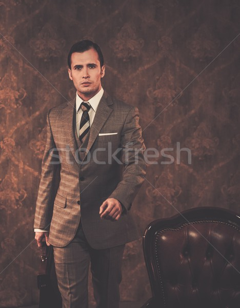 Well-dressed businessman with a briefcase Stock photo © Nejron