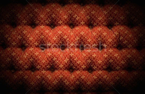Primo piano view rosso lusso tappezzeria design Foto d'archivio © Nejron