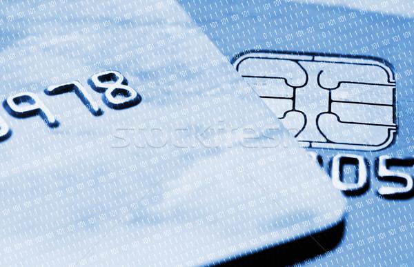 Kredi kartları mavi iş para doku soyut Stok fotoğraf © Nejron