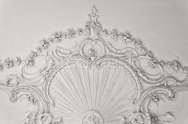 Luxury white wall design with mouldings Stock photo © Nejron