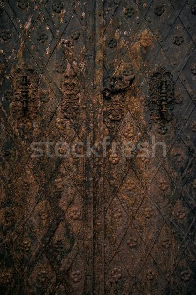 Rusty Metal Door old rusty metal door stock photo © andrejs pidjass (nejron