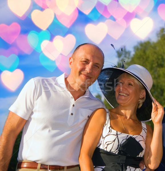 пару любви женщину улыбка лес Сток-фото © Nejron