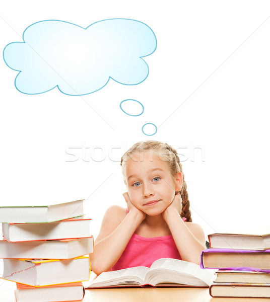 Thinking schoolgirl