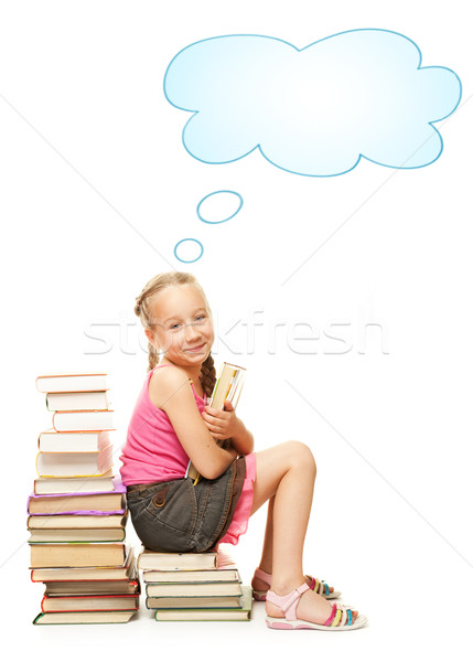 Smiling little schoolgirl