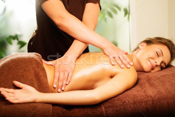 Сток-фото: красивой · массаж · Spa · салона · женщину