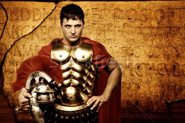 Romano cartas textura soldado parede abstrato Foto stock © Nejron