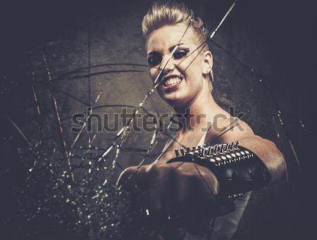 魅力のある女性 冬 森林 ツリー セクシー ファッション ストックフォト © Nejron