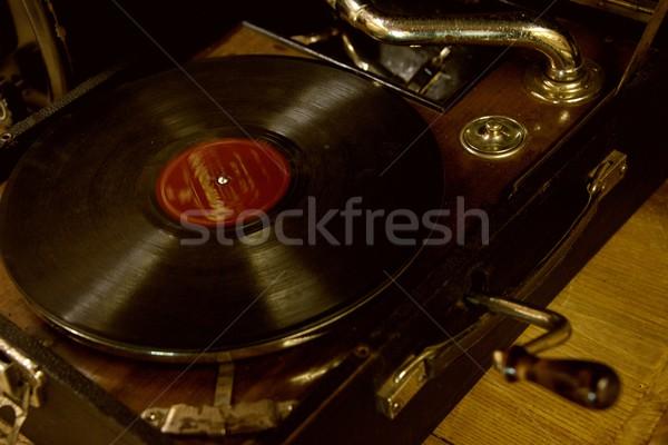 Klasszikus gramofon doboz hangszóró mobil hang Stock fotó © Nejron