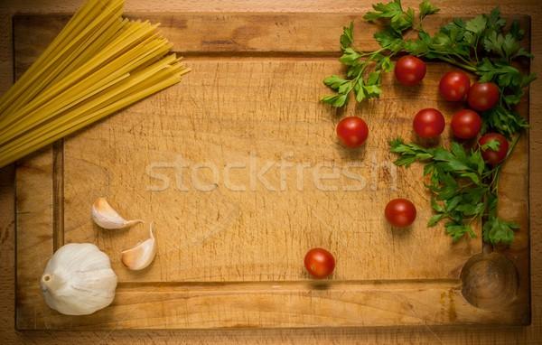 Maaltijd voorbereiding procede gezondheid restaurant tabel Stockfoto © Nejron