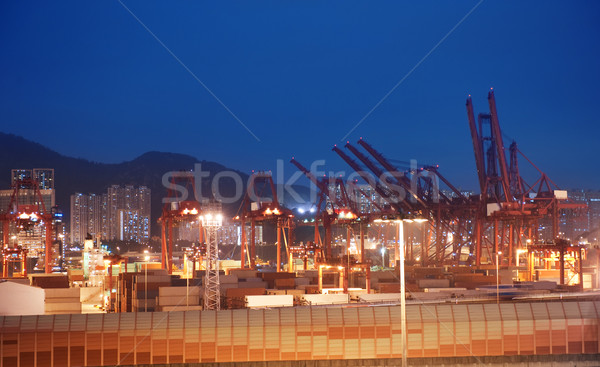 View to the port at night Stock photo © Nejron
