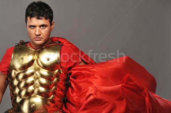 Stock photo: Portrait of a roman legionary soldier