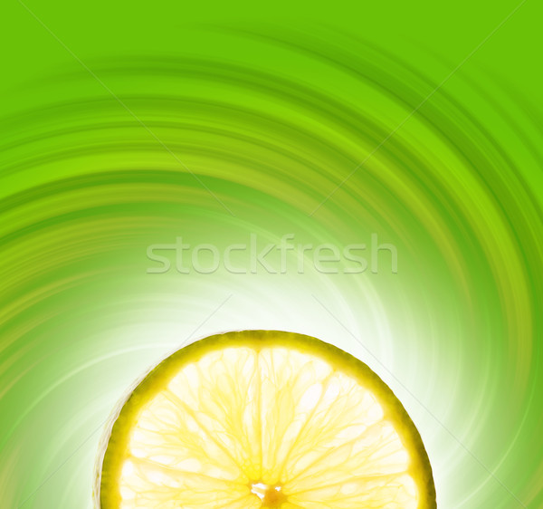 Lime slice on abstract background Stock photo © Nejron