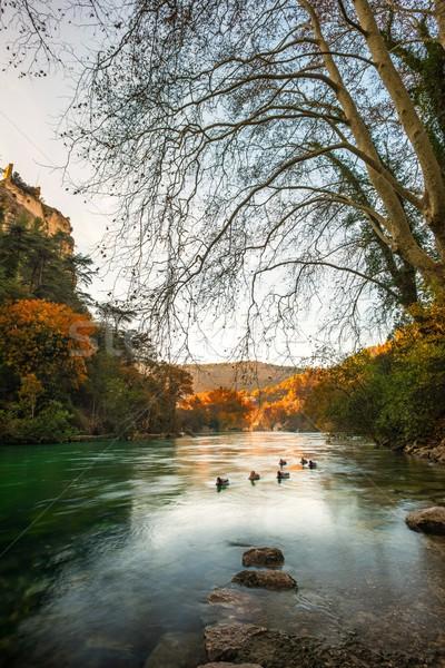 Beautiful river in Fontaine-de-Vaucluse, France Stock photo © Nejron