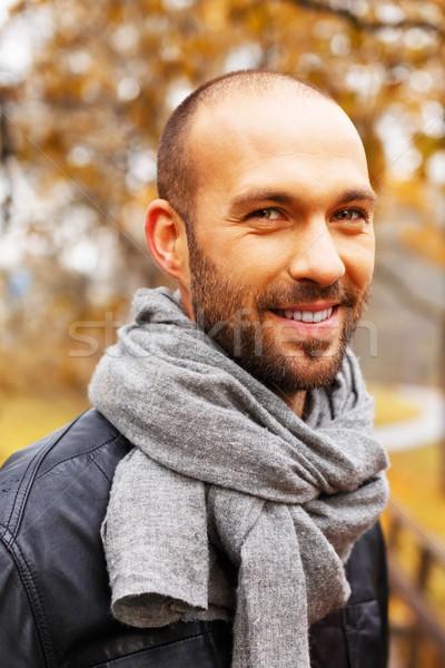 ポジティブ 男 だけ 美しい 秋 ストックフォト © Nejron