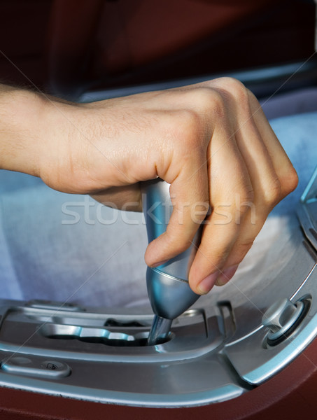 Driver's hand changing speed Stock photo © Nejron