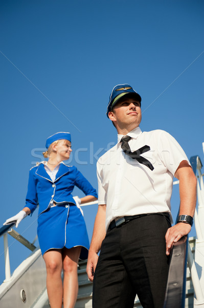 Cabin crew couple Stock photo © Nejron