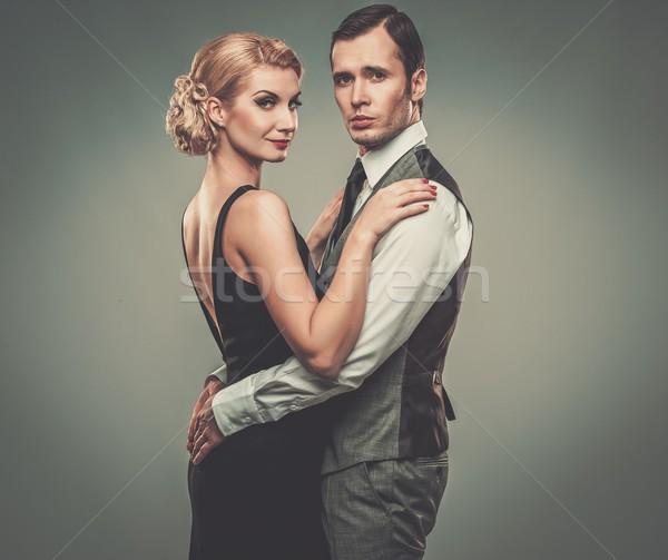 Well-dressed retro couple  Stock photo © Nejron