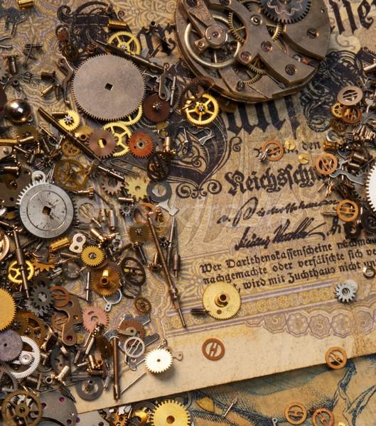Engrenagens velho dinheiro abstrato fundo Foto stock © Nejron