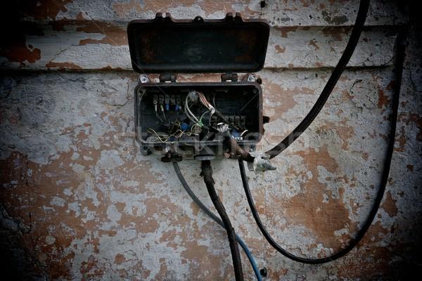 Old electrical metal box. Stock photo © Nejron