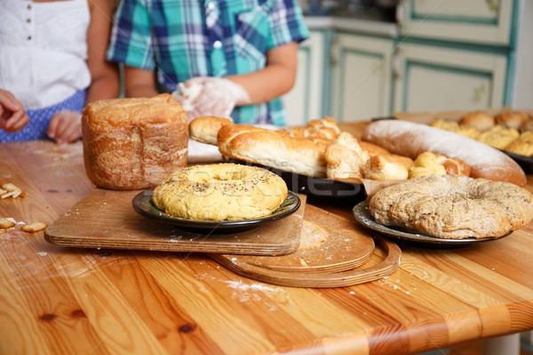 Children cooking homemade pastry Stock photo © Nejron