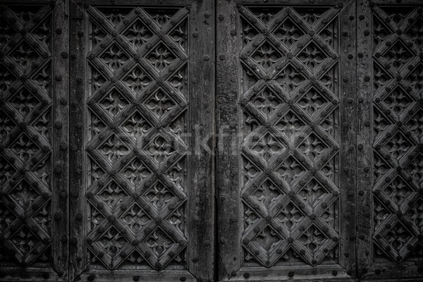 Wooden decorated wall Stock photo © Nejron