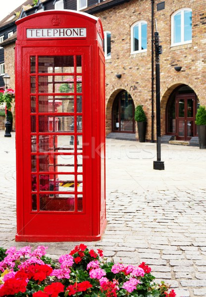 Traditional british red phone booth  Stock photo © Nejron