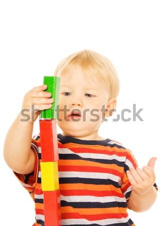 Gyönyörű fiatal gyermek játszik szellemi játék Stock fotó © Nejron