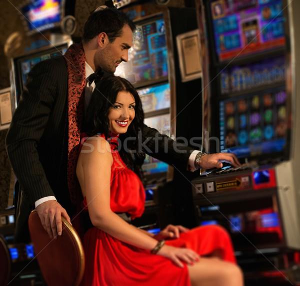 Photo stock: Belle · casino · femme · argent