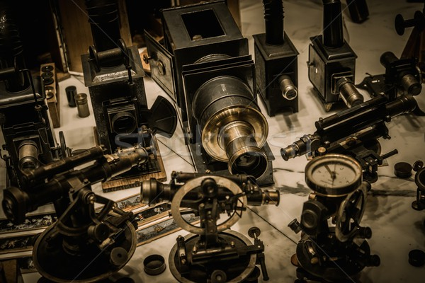 Vintage optical devices in a shop  Stock photo © Nejron