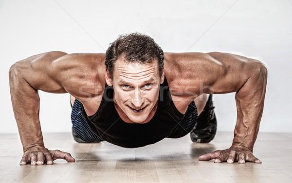 筋肉の 男 フィットネス 健康 作業 ストックフォト © Nejron