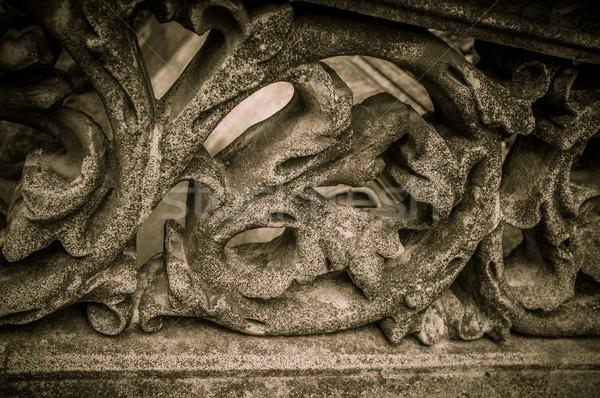 Arhitectura veche detaliu floare perete proiect Imagine de stoc © Nejron