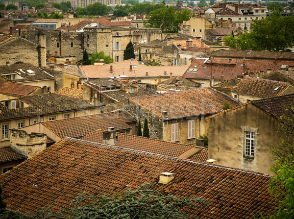 View over rooftops of Avignon town, France Stock photo © Nejron