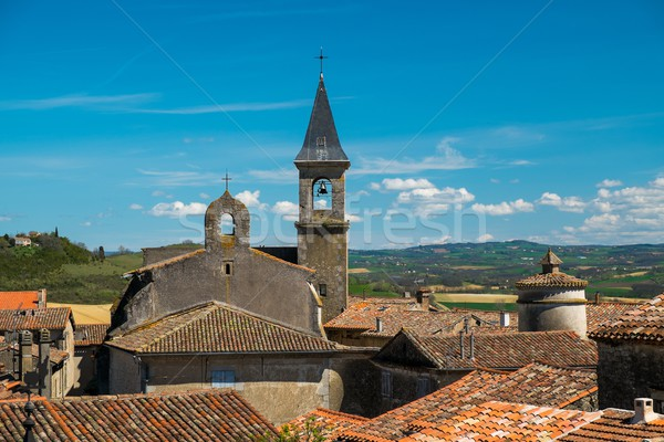 View over Lautrec village rooftops, France  Stock photo © Nejron