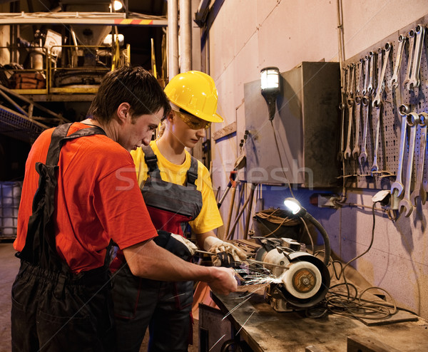 Man and woman working together Stock photo © Nejron