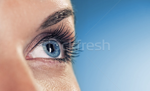 Eye on blue background (shallow DoF) Stock photo © Nejron