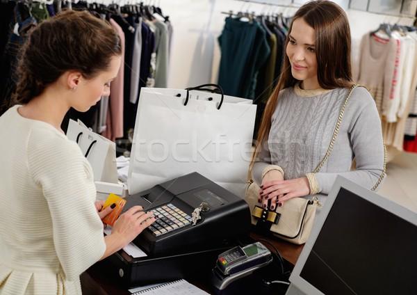 幸せ 女性 顧客 クレジットカード ファッション ストックフォト © Nejron