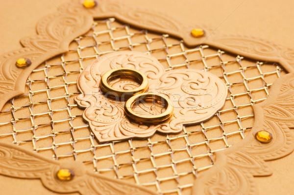 Luxe handgemaakt element bruiloft gelukkig Stockfoto © Nejron
