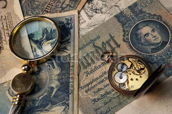 Tijd is geld geld papier abstract ontwerp achtergrond Stockfoto © Nejron