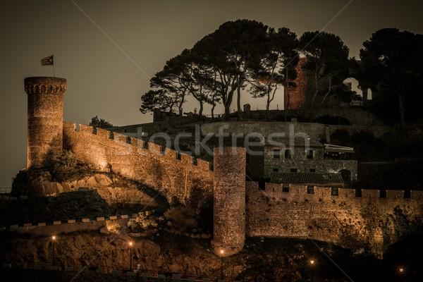 Vila Vella castle at Tossa de Mar, Spain   Stock photo © Nejron