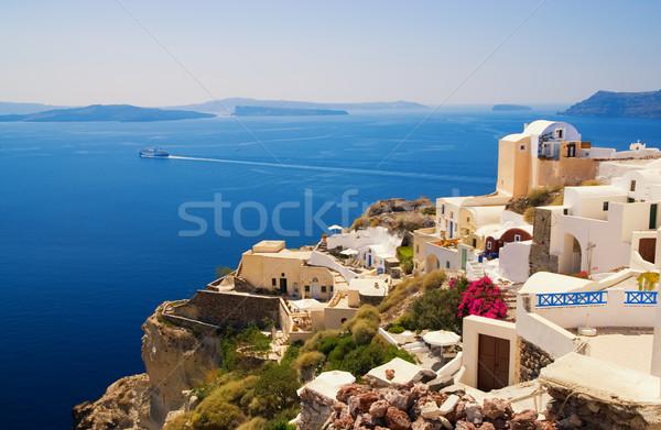 Stockfoto: Mooie · landschap · santorini · eiland · Griekenland