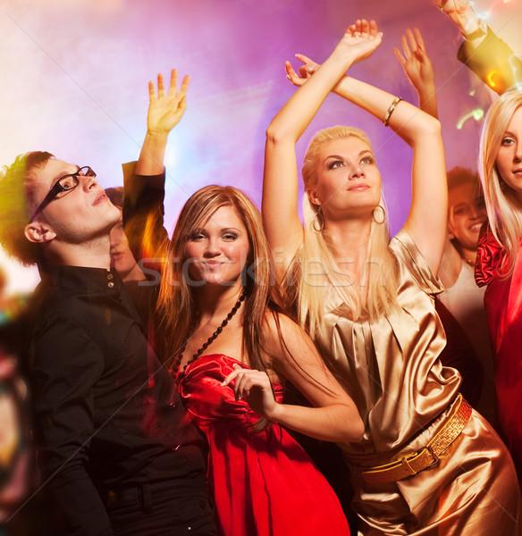 Personas baile club nocturno nina manos mujeres Foto stock © Nejron